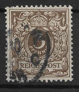 Deutsches Reich KRONE & ADLER 45b mit Plattenfehler I gestempelt (BPP WIEGAND) (2)