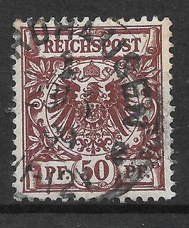 Deutsches Reich KRONE & ADLER 50da gestempelt (BPP ZENKER) (2)