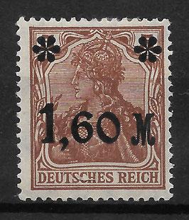 Deutsches Reich GERMANIA 154 Ia ungebraucht mit Plattenfehler III (BPP JÄSCHKE)