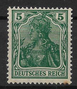 Deutsches Reich GERMANIA 85 IIe postfrisch (BPP PESCHL)