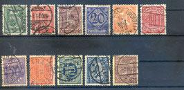 Deutsches Reich DIENST 23-33 gestempelt (2)