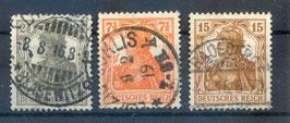 Deutsches Reich GERMANIA 98-100 gestempelt (4)
