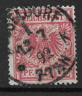 Deutsches Reich KRONE & ADLER 47b mit Plattenfehler V gestempelt (BPP WIEGAND) (2)