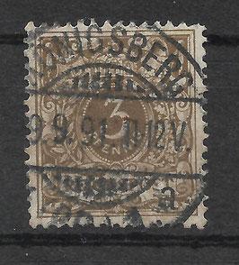 Deutsches Reich KRONE & ADLER 45a gestempelt (BPP WIEGAND) (15)