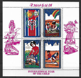 Nordkorea Kleinbogensatz 1913-1924 gestempelt