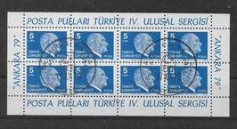 Türkei Kleinbogen 2482 gestempelt