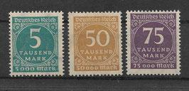 Deutsches Reich FREIMARKE ZIFFERN 274-276 postfrisch