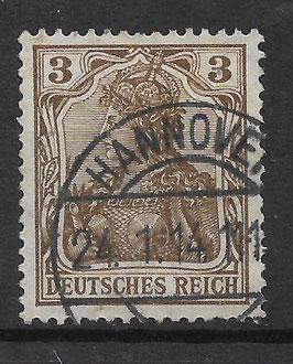 Deutsches Reich GERMANIA 84 I gestempelt (BPP JÄSCHKE) (II)