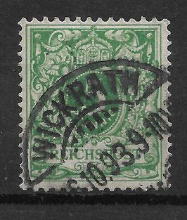 Deutsches Reich KRONE & ADLER 46c gestempelt (BPP WIEGAND) (10)