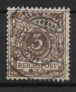 Deutsches Reich KRONE & ADLER 45b gestempelt (BPP WIEGAND)