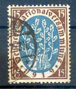 Deutsches Reich NATIONALVERSAMMLUNG 108 gestempelt (III)