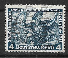 Deutsches Reich NOTHILFE WAGNER 500 B gestempelt