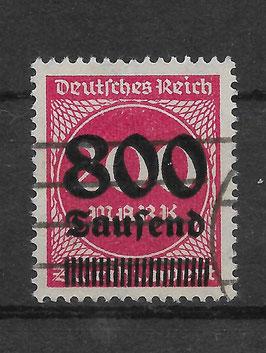Deutsches Reich FREIMARKE 303 A gestempelt (INFLA)