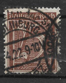 Deutsches Reich FREIMARKE 161 gestempelt (INFLA)