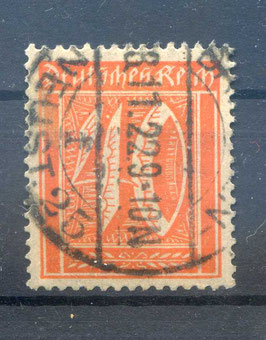 Deutsches Reich FREIMARKE 163 gestempelt