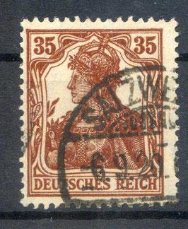 Deutsches Reich GERMANIA 103b gestempelt (BPP BAUER) (2)