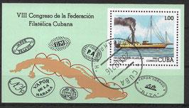 CUBA Block 74 gestempelt