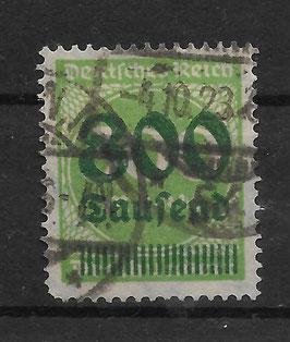 Deutsches Reich FREIMARKE 304 A gestempelt (INFLA)