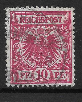 Deutsches Reich KRONE & ADLER 47d gestempelt (BPP ZENKER) (2)