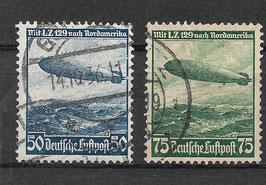 Deutsches Reich FLUGPOST 606-607 X gestempelt (2)