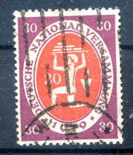 Deutschs Reich NATIONALVERSAMMLUNG 110c gestempelt (BPP BAUER) (2)