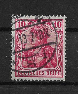 Deutsches Reich GERMANIA 86 Ib gestempelt (BPP JÄSCHKE) (III)