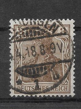 Deutsches Reich GERMANIA 84 IIa gestempelt (BPP JÄSCHKE)