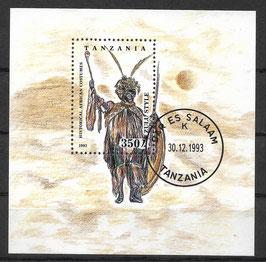 TANSANIA Block 236 gestempelt