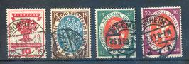 Deutsches Reich NATIONALVERSAMMLUNG 107-110 gestempelt (2)