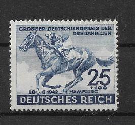 Deutsches Reich GALOPPRENNEN DAS BLAUE BAND von DEUTSCHLAND 814 postfrisch