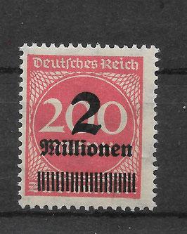 Deutsches Reich FREIMARKE 309 APa Y postfrisch (BPP BAUER)