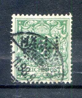 Deutsches Reich KRONE/ADLER 46c gestempelt (BPP JÄSCHKE) (V)