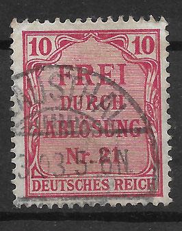 Deutsches Reich DIENST 4 gestempelt (2)