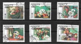 KAMBODSCHA 1951-1956 gestempelt