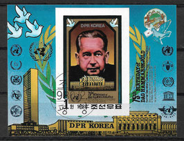 Nordkorea Block 88 gestempelt (2)