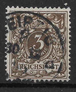 Deutsches Reich KRONE & ADLER 45b gestempelt (BPP WIEGAND) (6)