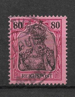 Deutsches Reich REICHSPOST 62 gestempelt