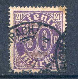 Deutsches Reich DIENST 21 Plattenfehler I gestempelt (INFLA)
