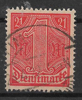 Deutsches Reich DIENST 22 gestempelt