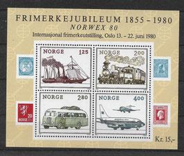 Norwegen Block 3 postfrisch (2)