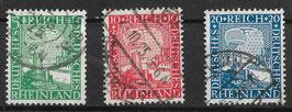 Deutsches Reich RHEINLAND 1000 JAHRE DEUTSCH 372-374 gestempelt