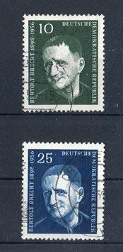 DDR 593-594 gestempelt