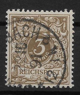 Deutsches Reich KRONE & ADLER 45a gestempelt (BPP WIEGAND) (9)