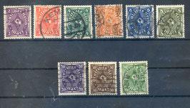 Deutsches Reich FREIMARKE POSTHORN 224-232 gestempelt (3)