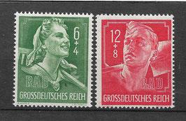 Deutsches Reich AUSSTELLUNG des REICHSARBEITSDIENST 894-895 postfrisch