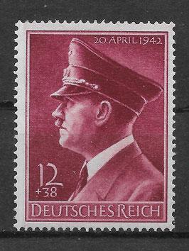 Deutsches Reich GEBURTSTAG von ADOLF HITLER 813y postfrisch