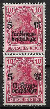 Deutsches Reich GERMANIA 105c postfrisch als Paar (BPP BAUER)