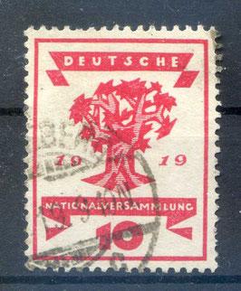 Deutsches Reich NATIONALVERSAMMLUNG 107 gestempelt