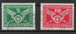 Deutsches Reich VERKEHRSAUSSTELLUNG 370Y-371Y gestempelt