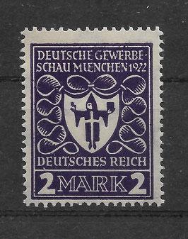 Deutsches Reich GEWERBESCHAU 200a postfrisch (BPP BAUER)